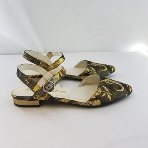 ANNE KLEIN Gold Bronze Metallic Sandal Sz 7.5 M